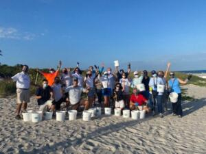 beach cleanup group